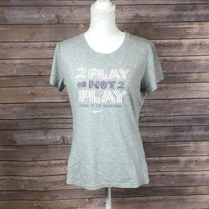 Nike Gray Slim Fit Quote Tee